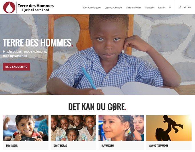 Terre des hommes 2017 layout i responsive webdesign