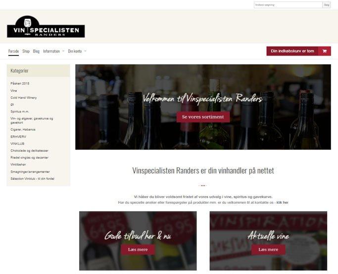 Vinspecialisten Randers 2018 webshop