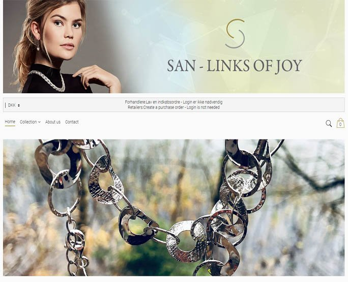 San Design - Links Of Joy, hosted shop b2b