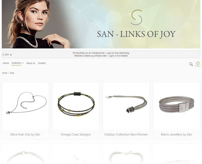 San Design - Links Of Joy, hosted webshop b2b relayout 2019
