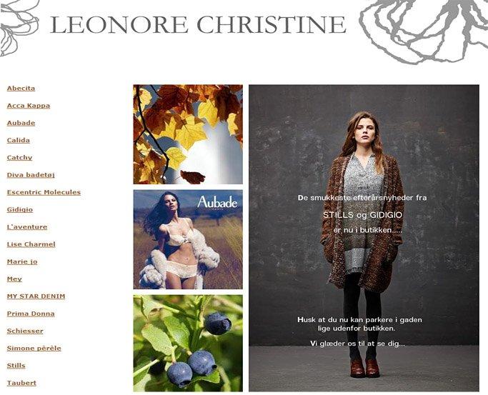 leonore christine lingeri butik herning