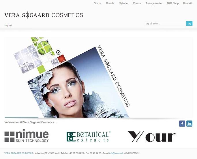 Vera Soegaard Cosmetics webshop 2 med multishop