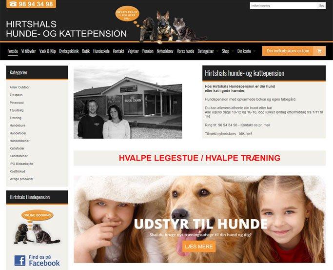 Hirtshals Hundepension og Kattepension salg af hundefoder
