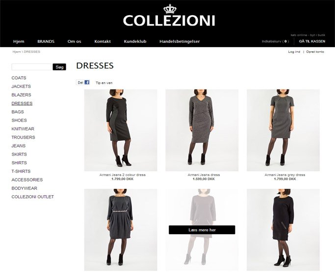 collezioni dress mærkevarer herning webshop