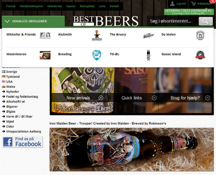 best of beers webshop top slider