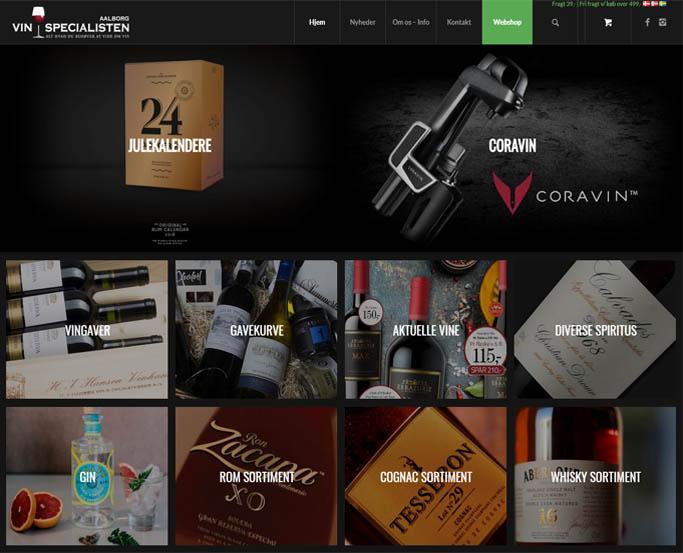 Vinspecialisten Aalborg webshop design