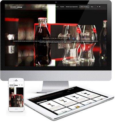 Riedel vinglas shop responsive webdesign 1