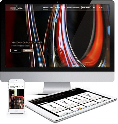 Riedelglas shop responsive webshopdesign