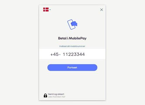betal med mobilepay checkout via onpay
