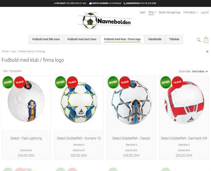 navnebolden shopoversigt med fodbolde